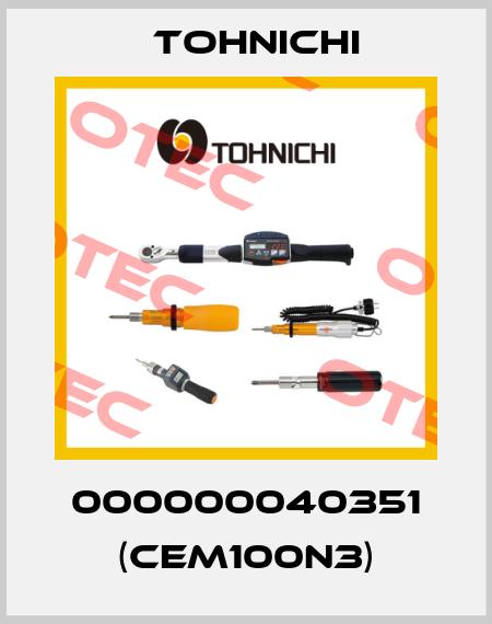 Tohnichi-000000040351 (CEM100N3)  price