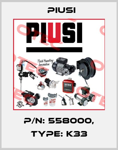 Piusi-P/N: 558000, Type: K33 price