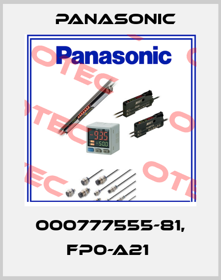 Panasonic-000777555-81, FP0-A21  price