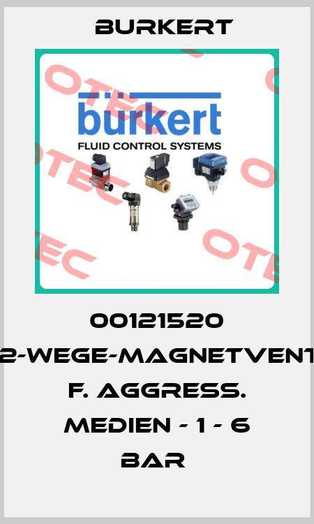 Burkert-00121520 2/2-WEGE-MAGNETVENTIL F. AGGRESS. MEDIEN - 1 - 6 BAR  price