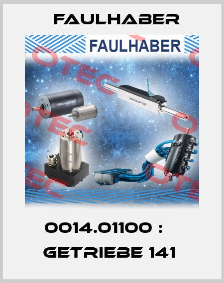 Faulhaber-0014.01100 :    GETRIEBE 141  price
