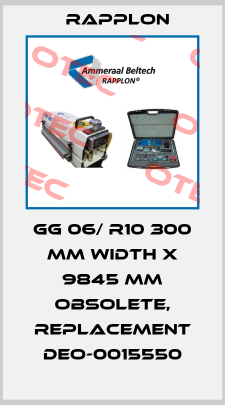 Rapplon-GG 06/ R10 300 mm WIDTH X 9845 mm obsolete, replacement DEO-0015550 price