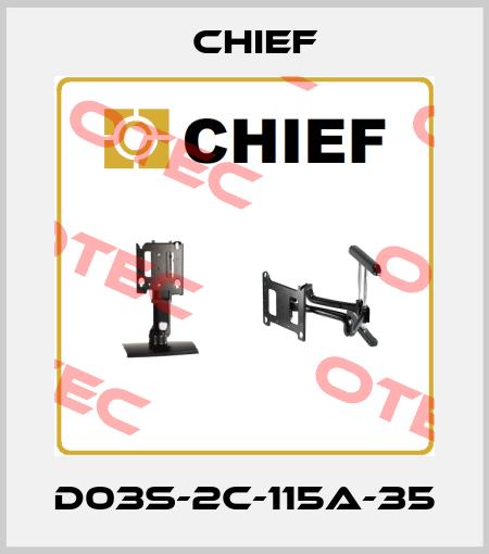 Chief-D03S-2C-115A-35 price