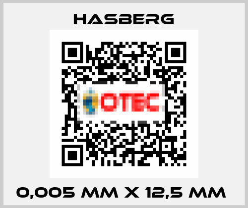 Hasberg-0,005 MM X 12,5 MM  price
